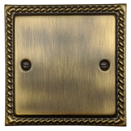 G&H Monarch Roped Plate Antique Bronze